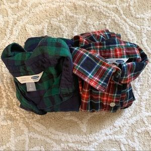Pair of Old Navy Long Sleeve Button Down Flannels